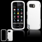 Hard Plastic Rubber Feel Cover Case for Nokia 5800 XpressMusic - White