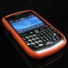 Hard Plastic Two Piece Rubber Feel Faceplates for Blackberry 8900 - Orange