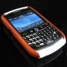 Hard Plastic Two Piece Dual Color Rubber Feel Faceplates for Blackberry 8900 - Orange / White