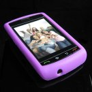 High Quality Premium Soft Rubber Silicone Cover Case for BlackBerry Storm - Light Purple