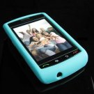 High Quality Premium Soft Rubber Silicone Cover Case for BlackBerry Storm - Turquoise