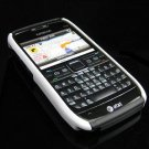 Hard Plastic Robotic Cover Case for Nokia E71 - Black / White