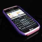 Hard Plastic Robotic Cover Case for Nokia E71 - Purple / Pink