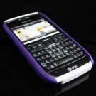 Hard Plastic Robotic Cover Case for Nokia E71 - Purple / White
