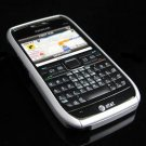 Hard Plastic Robotic Cover Case for Nokia E71 - Silver