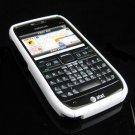 Hard Plastic Robotic Cover Case for Nokia E71 - White