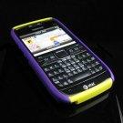 Hard Plastic Robotic Cover Case for Nokia E71 - Yellow / Purple