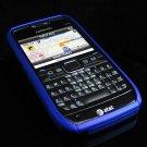 Hard Plastic Robotic Cover Case for Nokia E71 - Blue