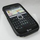 Hard Plastic Robotic Cover Case for Nokia E71 - Black