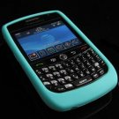 Soft Rubber Silicone Skin Cover Case for BlackBerry Curve (JAVELIN) 8900 - Turquoise