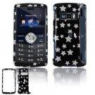 Hard Plastic Design Cover Case for LG enV3 VX9200 (Verizon) - Black / Silver Stars