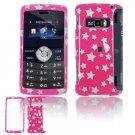 Hard Plastic Design Cover Case for LG enV3 VX9200 (Verizon) - Pink / Silver Stars