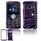 Hard Plastic Design Cover Case for LG enV3 VX9200 (Verizon) - Purple / Black Zebra