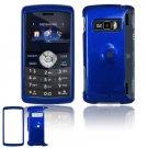 Hard Plastic Glossy Shield Cover Case for LG enV3 VX9200 (Verizon) - Dark Blue