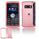 Hard Plastic Rubber Feel Cover Case for LG enV3 VX9200 (Verizon) - Baby Pink