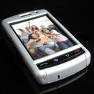 PREMIUM Hard Plastic Shield Cover Case for BlackBerry Storm 9500/9530 - Solid Silver