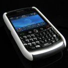 Hard Plastic Robotic Faceplates for Blackberry 8900 - White / Black