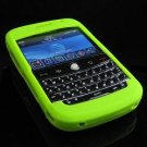 Premium Grip Soft Silicone Skin Cover Case for BlackBerry BOLD 9000 - Lime Green