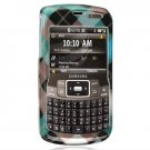 Hard Plastic Design Cover Case for Samsung Jack i637 (AT&T) - Cross Blue Plaid