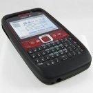 Soft Rubber Silicone Skin Cover Case for Nokia E63 - Black