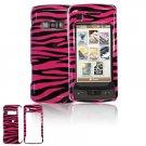 Hard Plastic Design Cover Case for LG enV Touch VX11000 (Verizon) - Hot Pink / Black Zebra