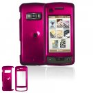 Hard Plastic Glossy Cover Case for LG enV Touch VX11000 (Verizon) - Rose Pink