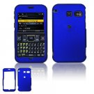 Hard Plastic Rubber Feel Cover Case for Sanyo 2700 - Dark Blue