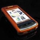 Hard Plastic Rubber Feel Case for LG enV Touch VX11000 (Verizon) - Orange