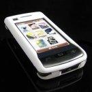 Hard Plastic Rubber Feel Case for LG enV Touch VX11000 (Verizon) - White