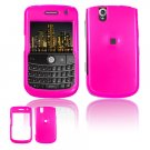 Hard Plastic Glossy Cover Case for BlackBerry Tour 9600/9630 - Hot Pink