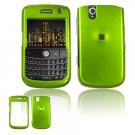 Hard Plastic Glossy Cover Case for BlackBerry Tour 9600/9630 - Neon Green