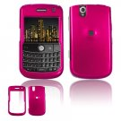 Hard Plastic Glossy Cover Case for BlackBerry Tour 9600/9630 - Rose Pink