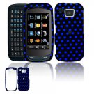 Hard Plastic Design Cover Case for Samsung Impression A877 (AT&T) - Black / Blue Polka Dots