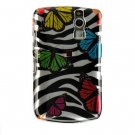 Hard Plastic Design Case for RIM BlackBerry 8330 Curve - Rainbow Butterfly