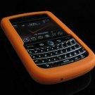 Soft Rubber Silicone Skin Cover Case for BlackBerry Tour 9600/9630 - Orange