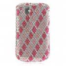 Hard Plastic Bling Design Cover Case for BlackBerry Tour 9600/9630 - Hot Pink Diamond