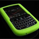 Soft Rubber Silicone Skin Cover Case for BlackBerry Tour 9600/9630 - Neon Green