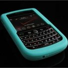 Soft Rubber Silicone Skin Cover Case for BlackBerry Tour 9600/9630 - Turquoise