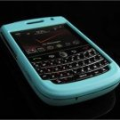 Hard Plastic Rubber Feel Cover Case for BlackBerry Tour 9600/9630 - Turquoise