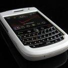 Hard Plastic Rubber Feel Cover Case for BlackBerry Tour 9600/9630 - White
