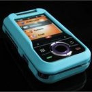 Hard Plastic Rubber Feel Cover Case for Motorola Rival A455 (Verizon) - Turquoise
