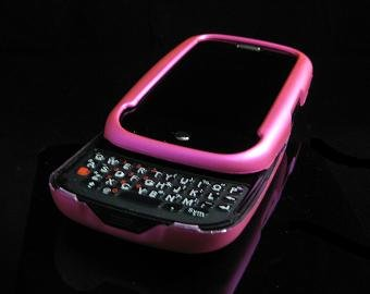 Hard Plastic Rubber Feel Cover Case for Palm Pre - Hot Pink