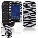 Hard Plastic Design Cover Case for LG Tritan AX840 - Black / White Zebra