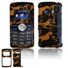 Hard Plastic Design Cover Case for LG enV3 VX9200 (Verizon) - Gold / Black Floral