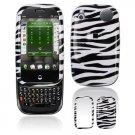Hard Plastic Design Shield Cover Case for Palm Pre - Black / White Zebra