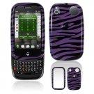 Hard Plastic Design Shield Cover Case for Palm Pre - Purple / Black Zebra