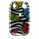 Hard Plastic Design Shield Cover Case for Palm Pre - Rainbow Butterfly Zebra