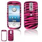 Hard Plastic Design Cover Case for HTC G2 Mytouch - Hot Pink / Black Zebra