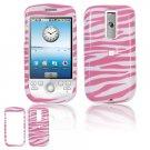 Hard Plastic Design Cover Case for HTC G2 Mytouch - Pink / White Zebra