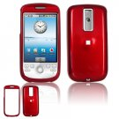 Hard Plastic Smooth Glossy Cover Case for HTC G2 Mytouch - Red